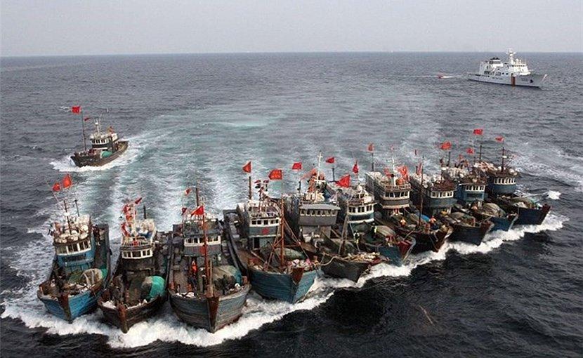 File photo of Chinese fishing fleet. Photo Credit: Tasnim News Agency