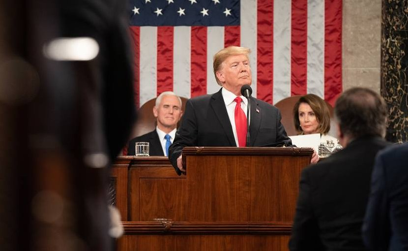 President Donald J. Trump delivers his State of the Union address at the U.S. Capitol, Tuesday, Feb. 5, 2019, in Washington, D.C. (Official White House Photo by Shealah Craighead)