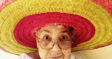 sombrero hat mexico elderly woman