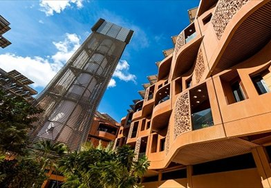 Masdar City in Abu Dhabi. Credit: Masdar