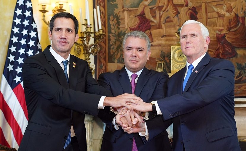 US Vice President Mike Pence with Venezuela's Juan Guaido. Photo Credit: White House