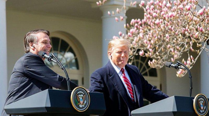 Brazil's Jair Bolsonaro and US President Donald Trump. Photo Credit: Isac Nóbrega/PR, Agencia Brasil