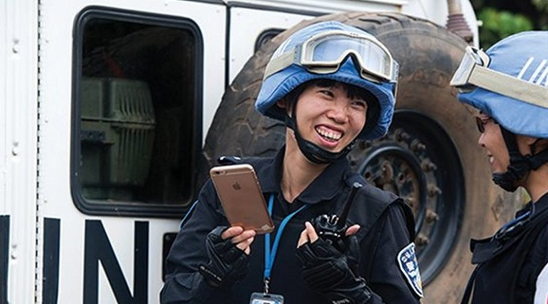 Chinese members of UN Peacekeeping team. Photo Credit: Twitter, UN