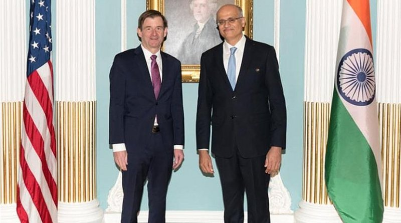 India's Foreign Secretary Vijay Gokhale and the US Under Secretary of State for Political Affairs David Hale