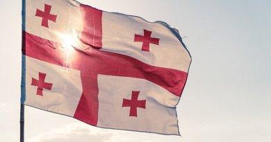 The flag of Georgia
