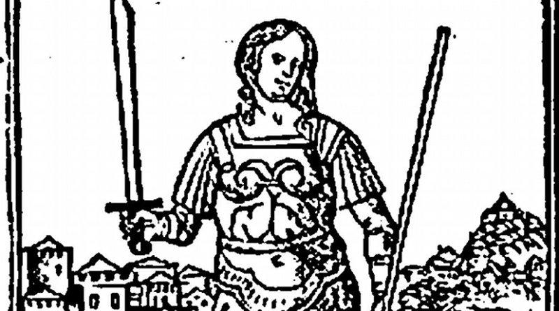 Semiramis, the semi-legendary Mesopotamian queen. Illsutration from an eighteenth century book Semmiramide Regina di Babillone. Credit: Wikipedia Commons