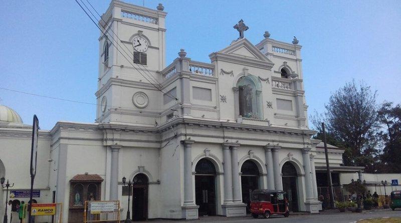 File photo of St Anthony's church in Colombo, Sri Lanka. Photo Credit: AntanO, Wikipedia Commons.