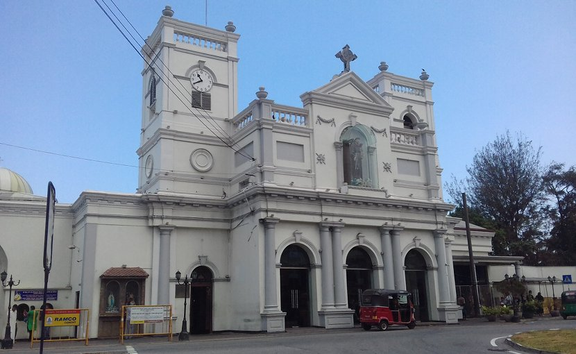 File photo of St Anthony's church in Colombo, Sri Lanka. Photo Credit: AntanO, Wikipedia Commons.