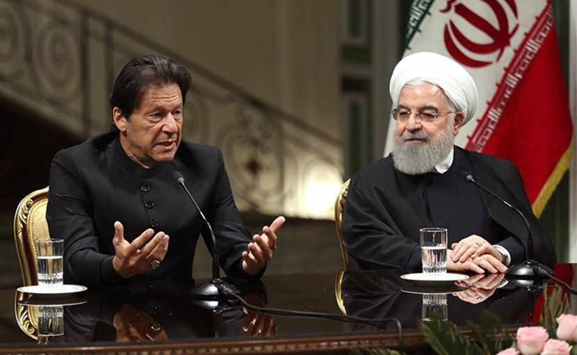 Pakistan's Imran Khan and Iran's Hassan Rouhani. Photo Credit: Tasnim News Agency