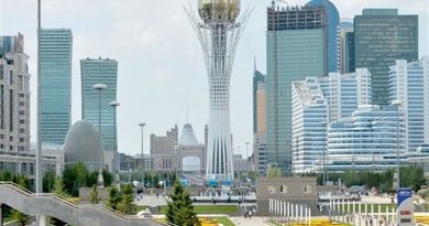 Nur-Sultan (formerly Astana, Kazakhstan. Photo Credit: Tasnim News Agency