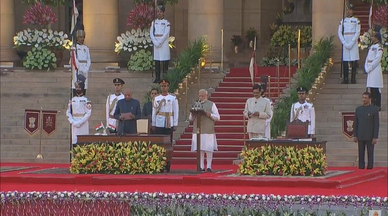 Narendra Modi took oath as the Prime Minister of India, marking the start of his second term as the PM. Photo Credit: India PM Office