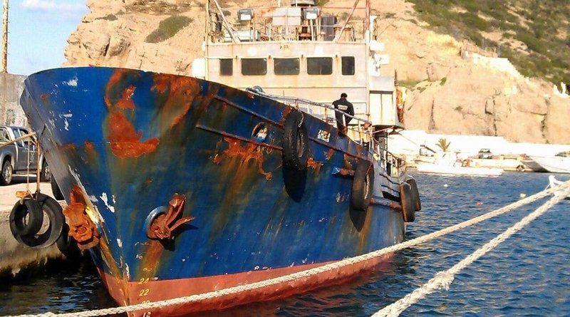 The Zahra ship seized in Crete. Photo: Greek Coast Guard