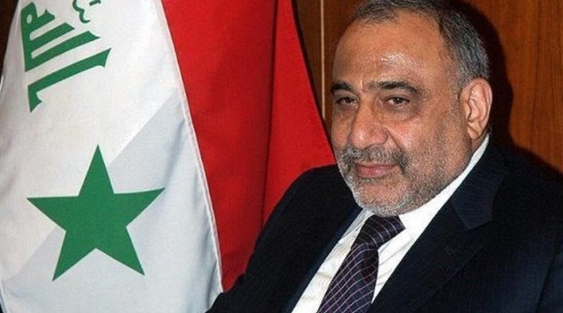 Iraqi Prime Minister Adel Abdul Mahdi. Photo Credit: Tasnim News Agency