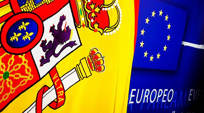 Flags of Spain and the EU. Photo: European Parliament (CC BY-NC-ND 2.0)