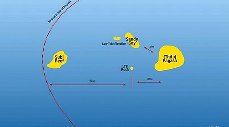 Location of Sandy Cay in South China Sea