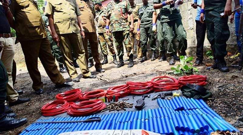 Weapons seized by Sri Lanka security forces. Photo Credit: Sri Lanka Army