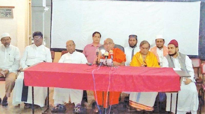 Sri Lankan religious leaders. Photo Credit: Sri Lanka government