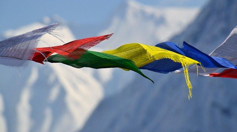Tibetan prayer flags in Nepal