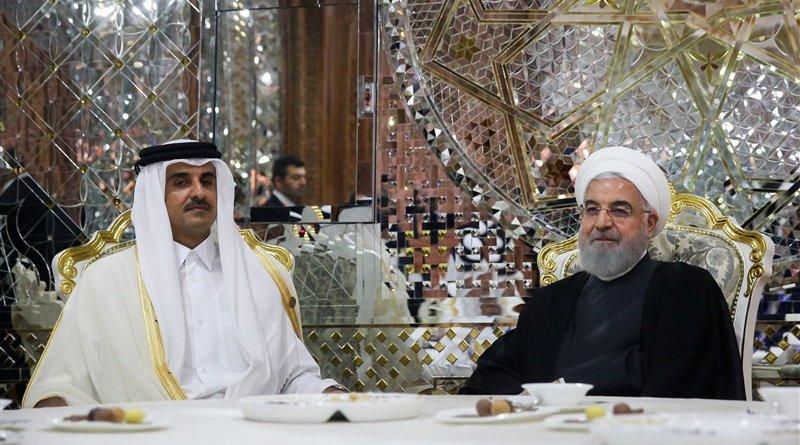 Emir of Qatar Tamim bin Hamad Al Thani with Iran's President Hassan Rouhani. Photo Credit: Tasnim News Agency