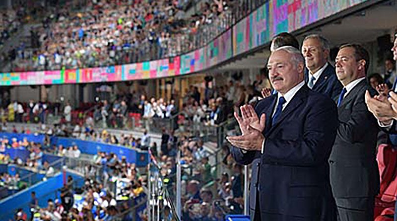 Belarusian President Alyaksandr Lukashenka opens the second European Games. Photo Credit: Belarus Presidency