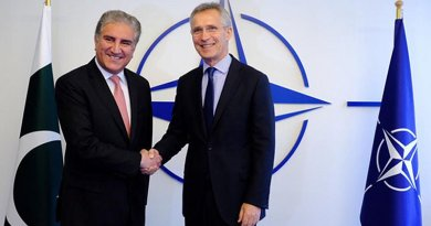 NATO Secretary General Jens Stoltenberg and Foreign Minister of Pakistan Shah Mahmood Qureshi. Photo Credit: NATO