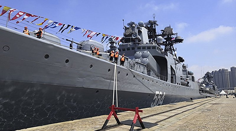 Joint Sea 2019 Russian-Chinese bilateral naval exercise kicks off in China's port of Qingdao. Photo Credit: Ministry of Defense of the Russian Federation