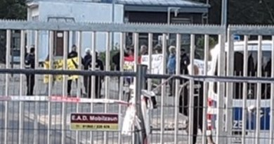 Eleven international peace activists enter the Büchel Air Base southwest of Frankfurt