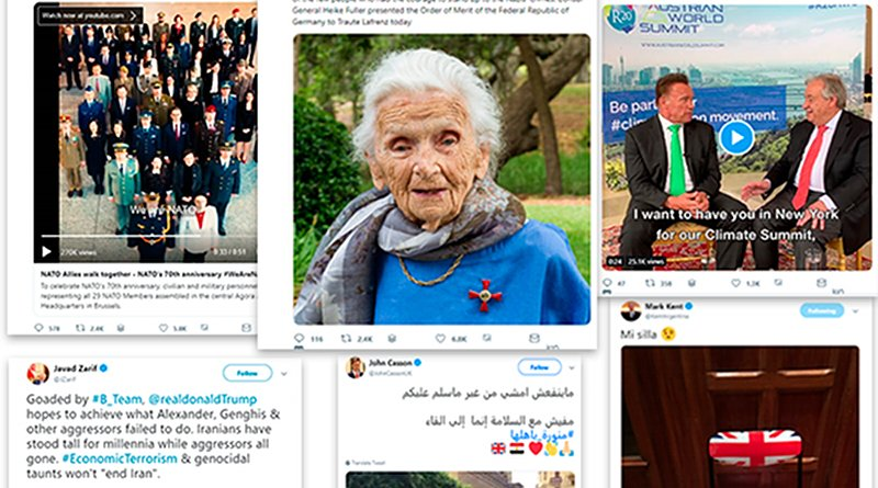 Selection of tweets by diplomats, MFAs and embassies.