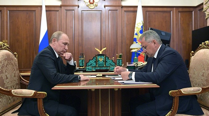 Russia's President Vladimir Putin with Defence Minister Sergei Shoigu. Photo Credit: Kremlin.ru