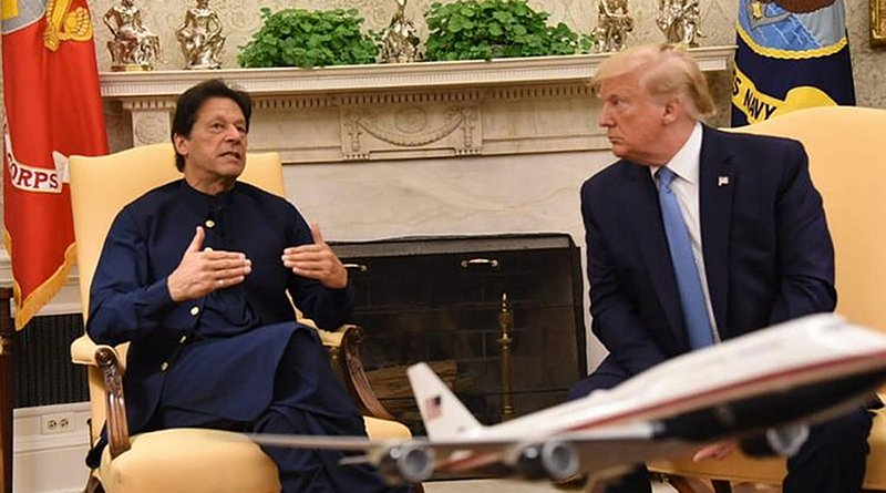 Pakistani Prime Minister Imran Khan meets US President Donald Trump at the White House. Photo Credit: White House Twitter