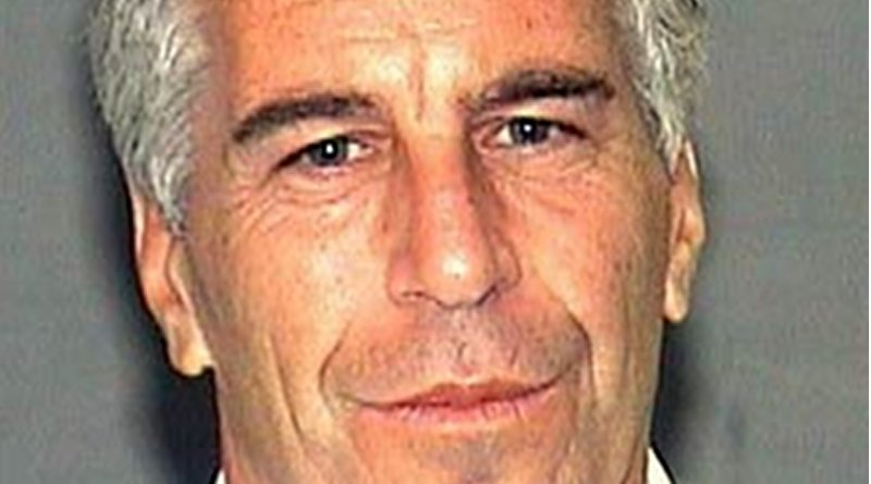 Mug shot of Jeffrey Epstein made available by the Palm Beach County Sheriff's Department, taken following his indictment for soliciting a prostitute in 2006. Source: Wikipedia Commons