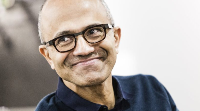 Satya Nadella. Credit: Brian Smale and Microsoft, licensed under CC BY-SA 4.0