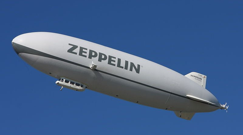 A modern airship, Zeppelin NT D-LZZF. Photo Credit: AngMoKio, Wikipedia Commons