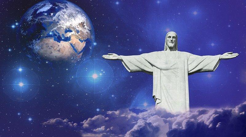 jesus earth statue globe