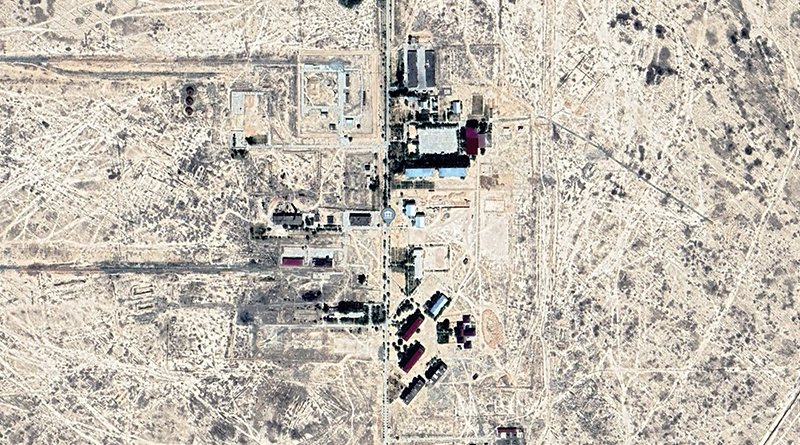 Uzbekistan's Jaslyk prison was built on the grounds of an old chemical plant in 1999 (Google Earth)
