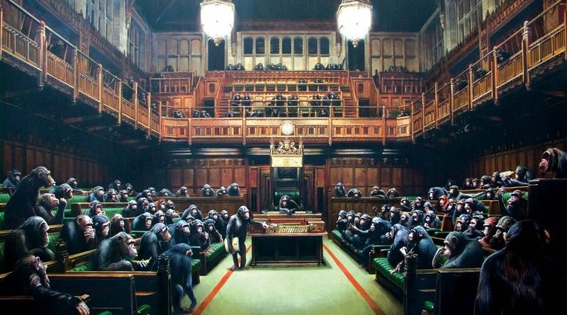 "Banksy's ""Devolved Parliament"""