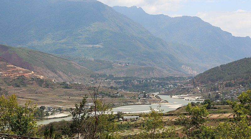 The Sankosh River in Bhutan. Photo Credit: Bernard Gagnon, Wikipedia Commons