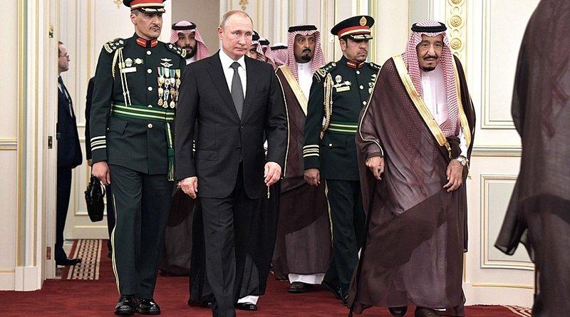 Russia's President Vladimir Putin arrived in Saudi Arabia on a state visit. With King Salman bin Abdulaziz Al Saud of Saudi Arabia. Photo Credit: Kremlin.ru