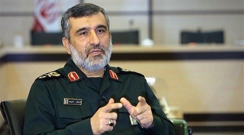 Commander of the Islamic Revolution Guards Corps (IRGC) Aerospace Force Brigadier General Amir Ali Hajizadeh. Photo Credit: Tasnim News Agency