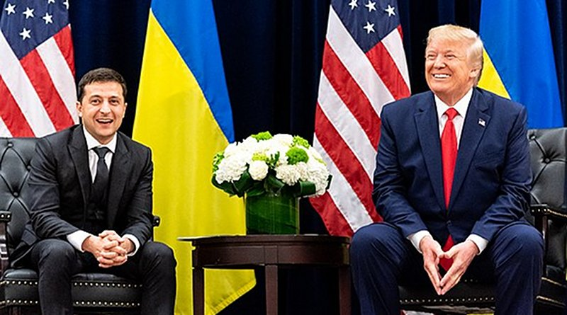 Ukrainian President Volodymyr Zelensky with U.S. President Donald Trump. Photo Credit: White House
