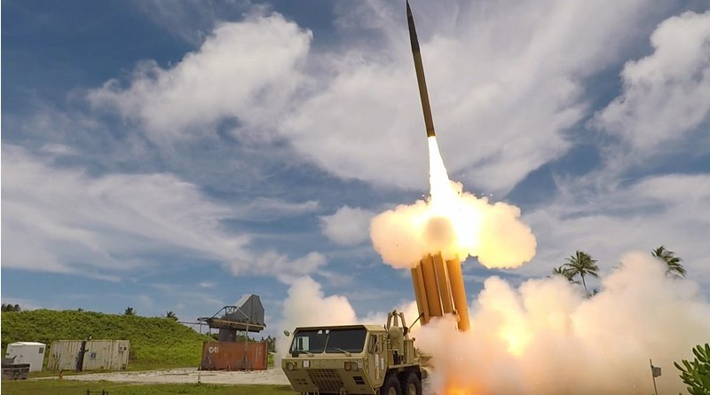 A Terminal High Altitude Area Defense interceptor missile launches during a flight test. Photo Credit: DoD