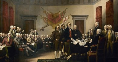 Declaration of Independence, an 1819 painting by John Trumbull