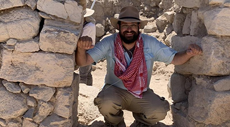 Adam Schneider during fieldwork in Jordan CREDIT Adam Schneider/CIRES