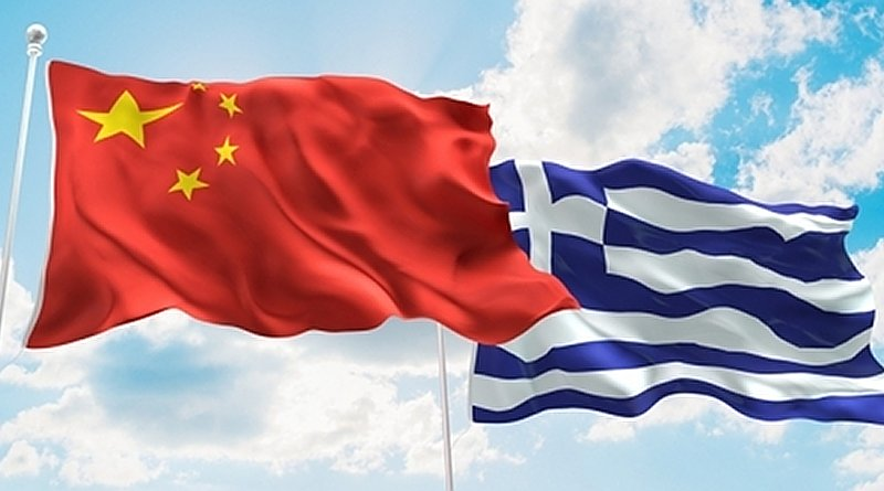 Flags of China and Greece