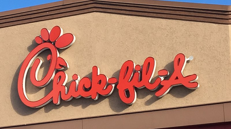 American fast food restaurant Chick-fil-A. Photo Credit: Photo Credit: Walker Kinsler, Wikipedia Commons