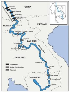 Obstacles: Hydroelectric dams are weakening the mighty Mekong River (Source: Mekong River Commission Strategic Environment Assessment and International Rivers Organization)