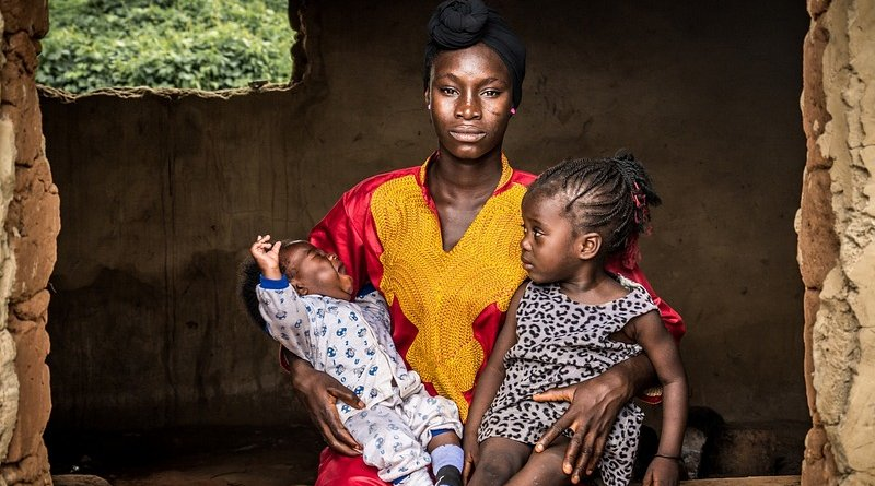 nigeria young woman mother children africa