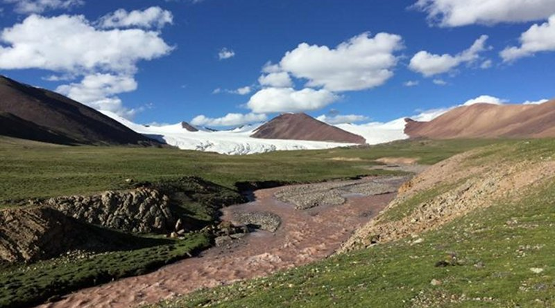 Meltwater runoff from the Dongkemadi Glacier on the Tibetan Plateau. CREDIT Image by Dr. ZENG Chen