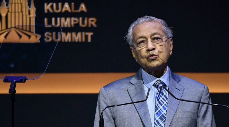 Malaysia's Prime Minister Mahathir Mohamad speaks at Kuala Lumpur Summit 2019. Photo Credit: Malaysia PM Office