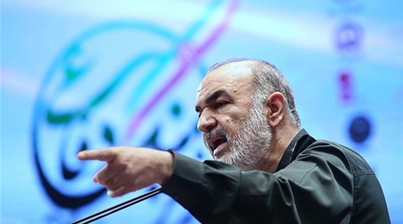 Commander of the Islamic Revolution Guards Corps (IRGC) Major General Hossein Salami. Photo Credit: Fars News Agency